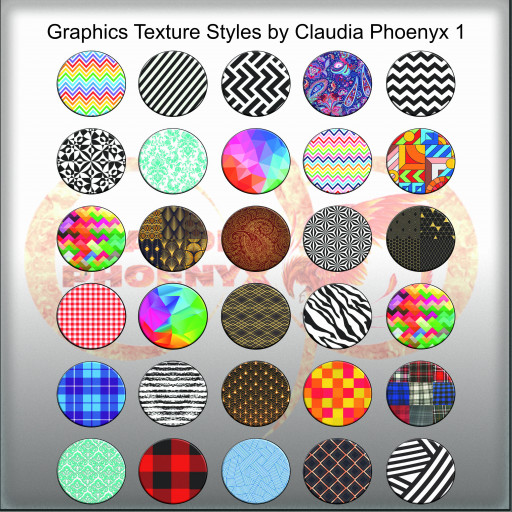 Graphics Texture Styles by Claudia Phoenyx 1
