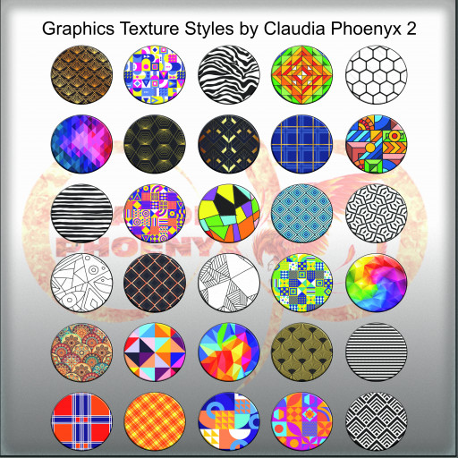 Graphics Texture Styles by Claudia Phoenyx 2