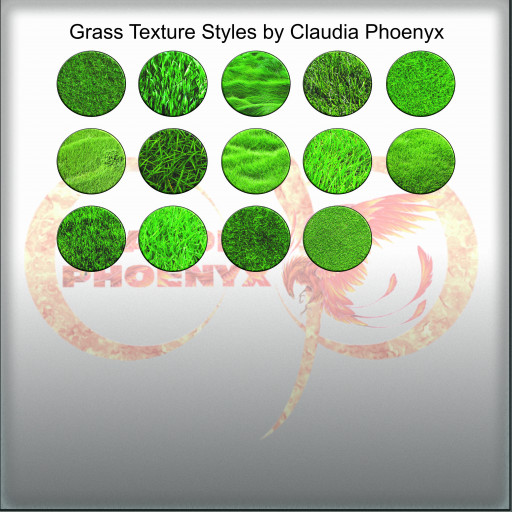 Grass Texture Styles by Claudia Phoenyx