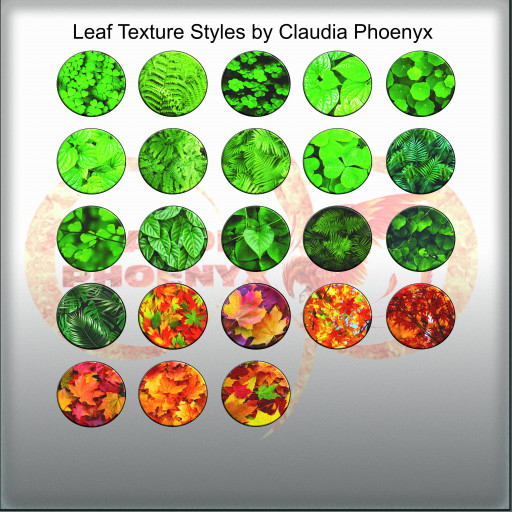 Leaf Texture Styles by Claudia Phoenyx