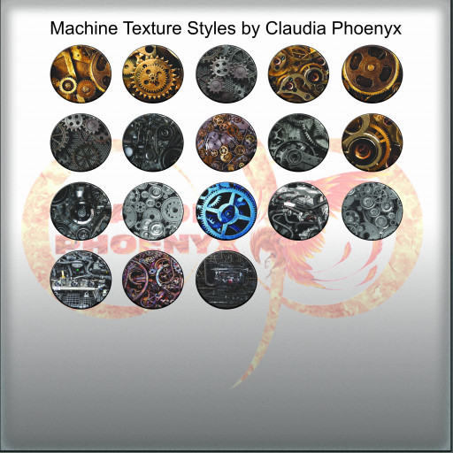 Machine Texture Styles by Claudia Phoenyx