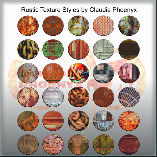 Rustic Texture Styles by Claudia Phoenyx