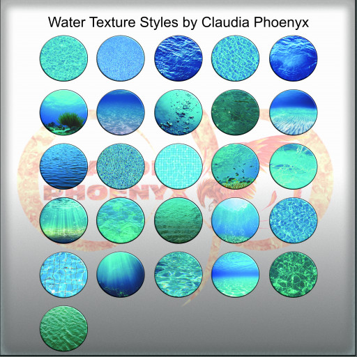 Water Texture Styles by Claudia Phoenyx