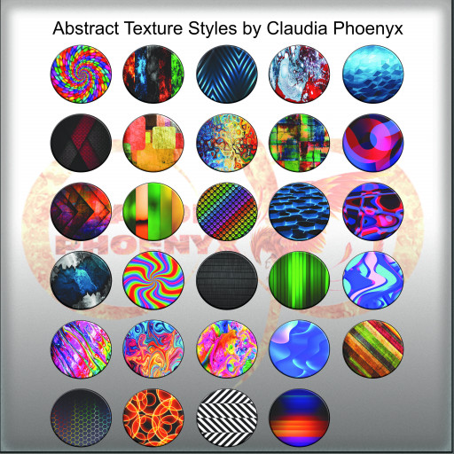 Abstract Texture Styles by Claudia Phoenyx