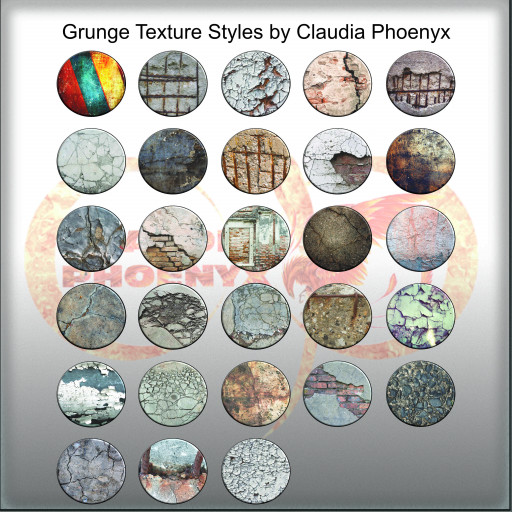 Grunge Texture Styles by Claudia Phoenyx