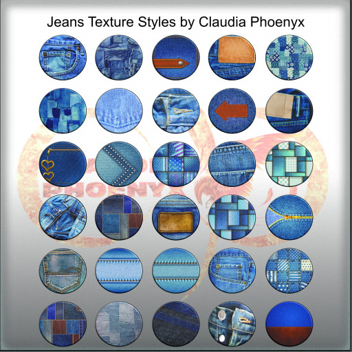 Jeans Texture Styles by Claudia Phoenyx