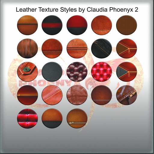 Leather Texture Styles by Claudia Phoenyx 2