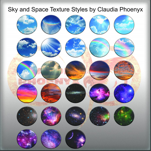 Sky and Space Texture Styles by Claudia Phoenyx