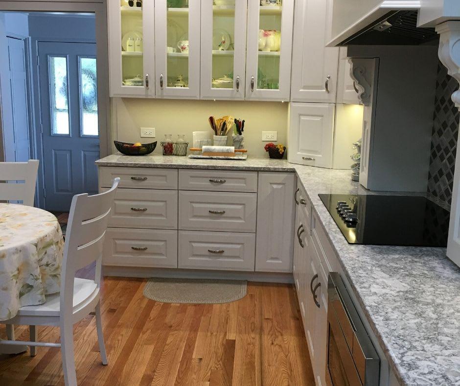 New Hardwood Floors in Kitchen Remodel
