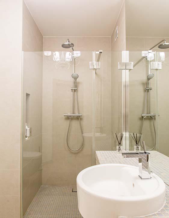 Modern Sink and Bathroom Shower Installation