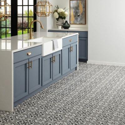 Kitchen with Daltile floor