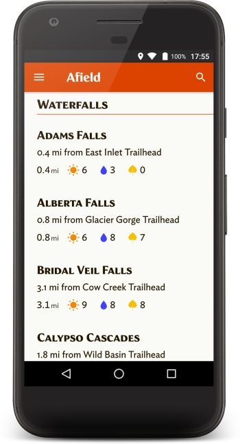 Get detailed trail information.