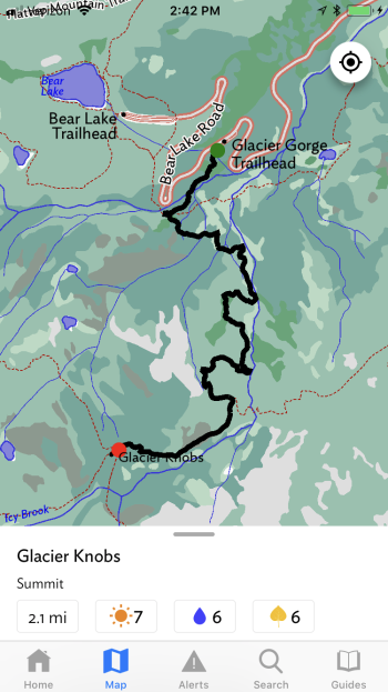 Get detailed trail descriptions for your route with offline maps.