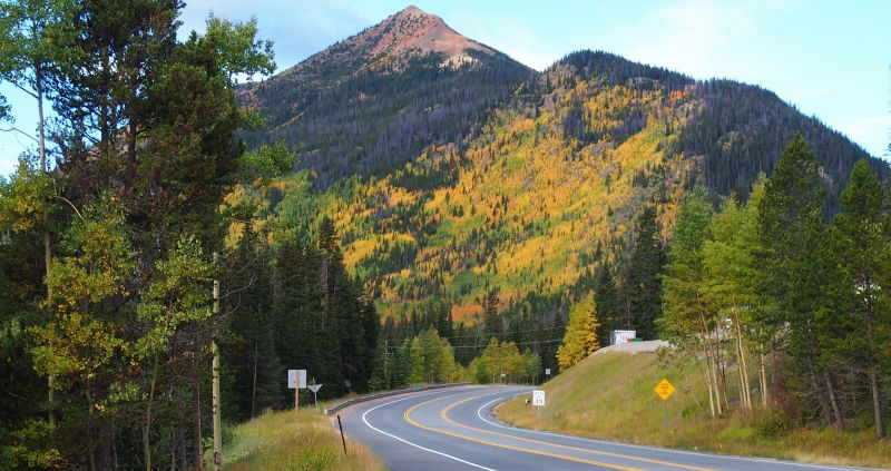 The aspen on Red Mountain, along Highway 40 west of Empire, are stunning with their fall foliage.