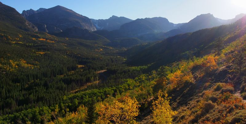 The fall foliage along Bear Lake Road in Rocky Mountain National Park is beautiful right now.