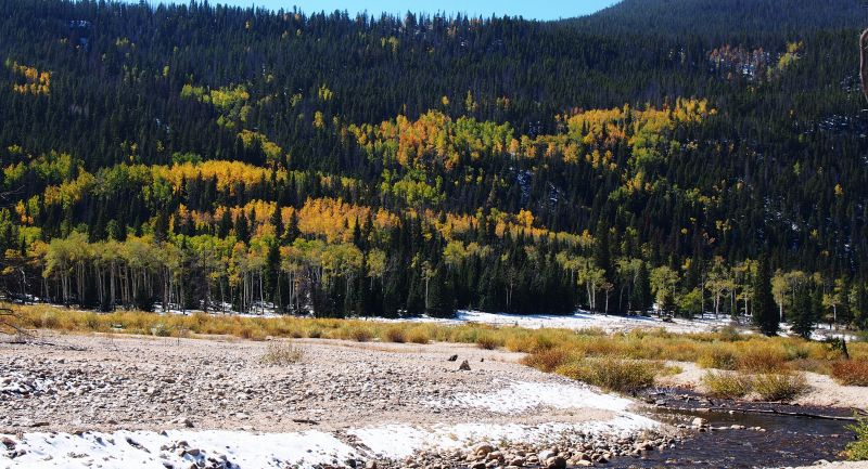 Aspen viewed from the alluvial fan