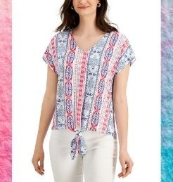 jm fashion printed blouse