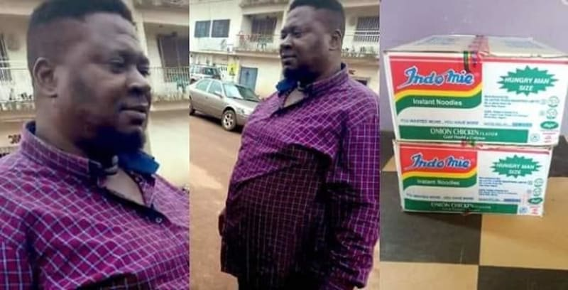 Man Finds ₦1.8 Million In The Cartorn Of Indomie He Bought & Returns It