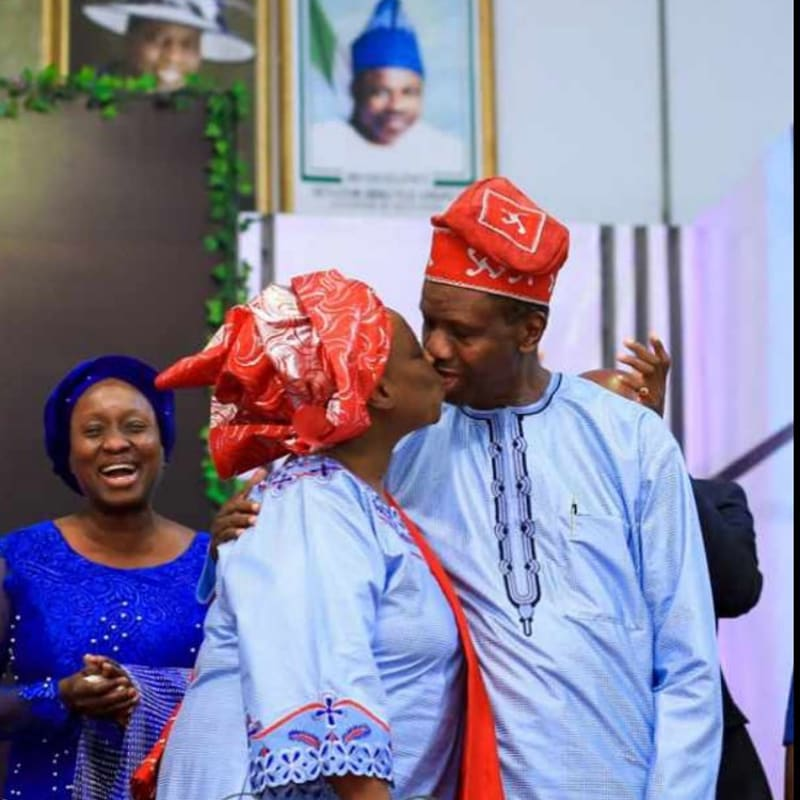 Pastor Adeboye Shares Throwback Photo Of Him Kissing His Wife