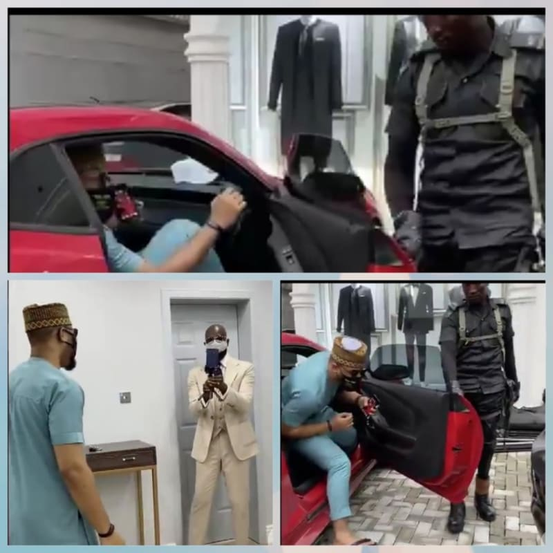 Policeman Opens Car Door For BBNaija's Ozo  In Viral Video