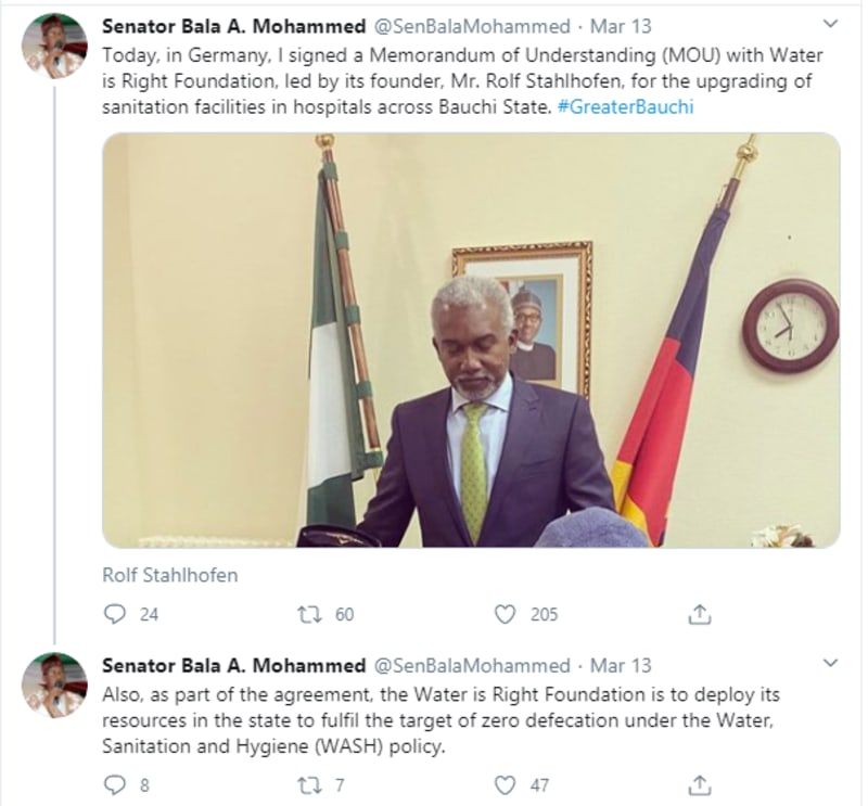 I Never Shook Hands With Governor Bala Mohammed Of Bauchi State – Atiku's Son