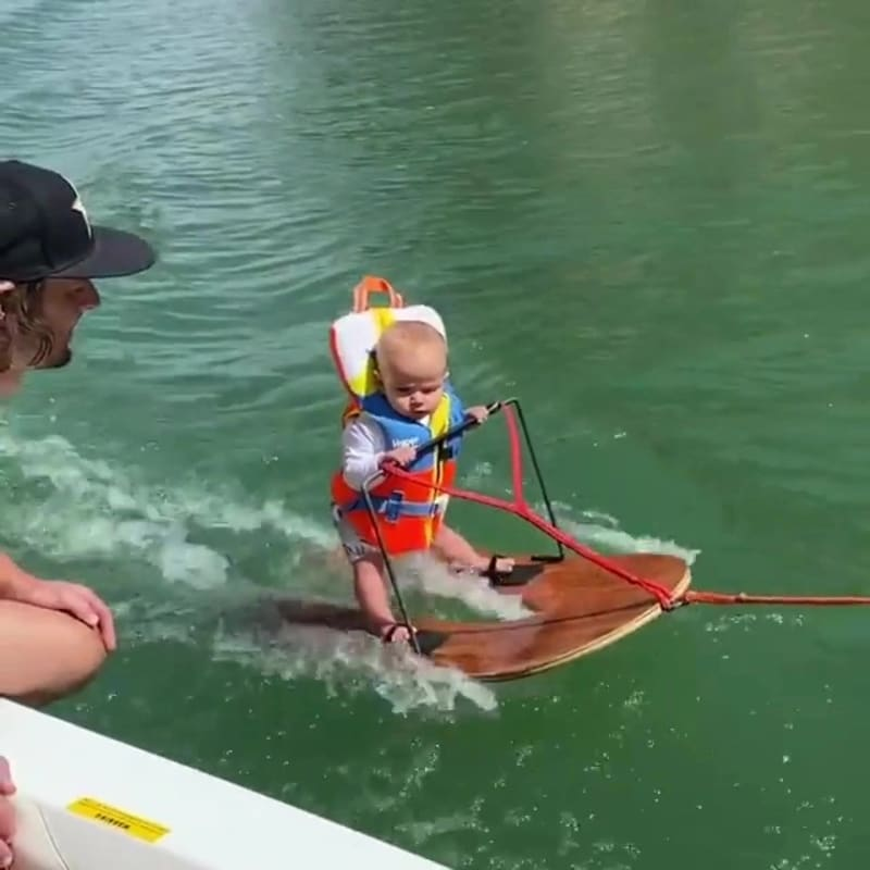 6-Month-Old Baby Breaks World Record For Youngest Water Skier