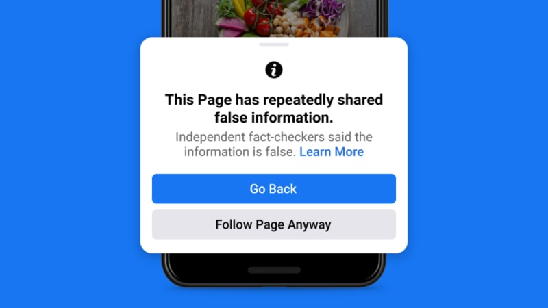 Facebook: Taking Action Against People Who Repeatedly Share Misinformation