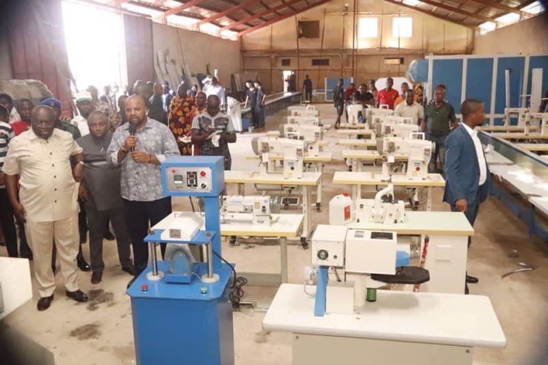 Governor Ikpeazu Visits The New Aba Shoe Factory