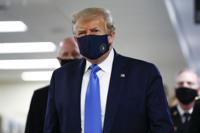Trump Wears Mask In Public For First Time During COVID-19 Pandemic
