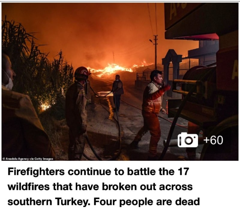 Wildfires Raging Across Southern Turkey (Video)