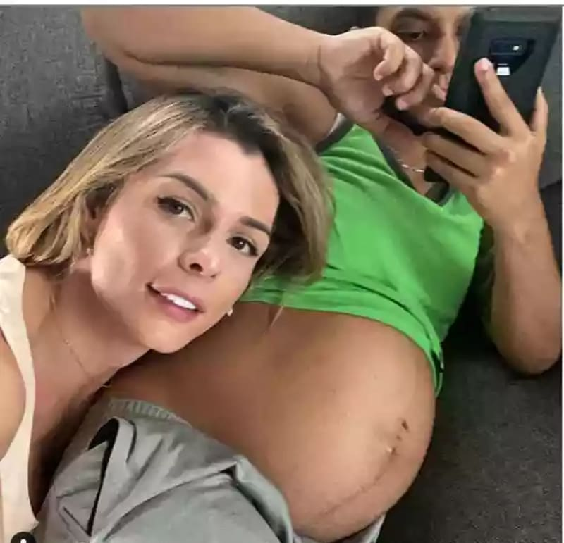 Colombian Transgender Model Shares Photo Of Her Husband's Eight-Month Baby Bump
