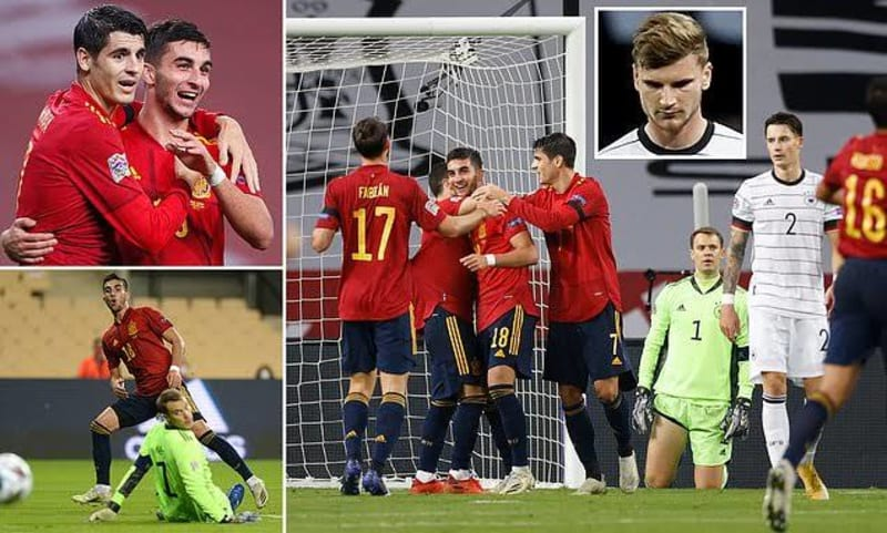 Spain Demolish Germany 6 - 0 In UEFA Nation's League
