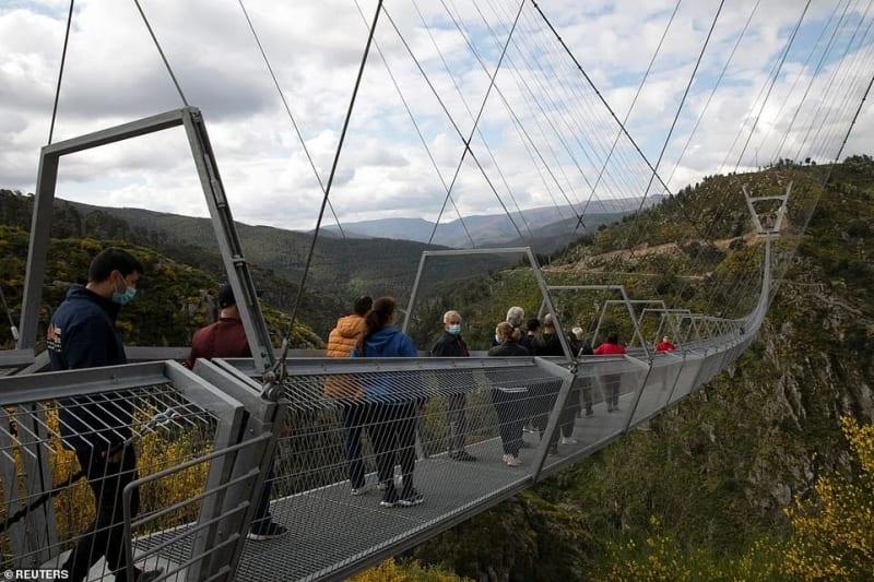 Portugal Opens World's Longest Pedestrian Suspension Bridge On Mountains