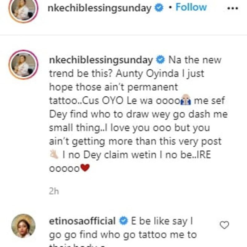 Actress Nkechi Blessing Apologizes For Calling Out Fan Who Tattooed Her Name