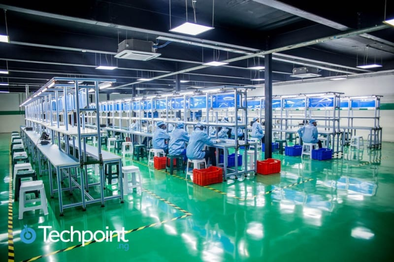 inside nigeria's first smartphone assembly plant