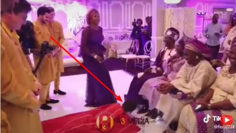 Funny Video Of Oyinbo Man And His Yoruba Bride On Wedding Day