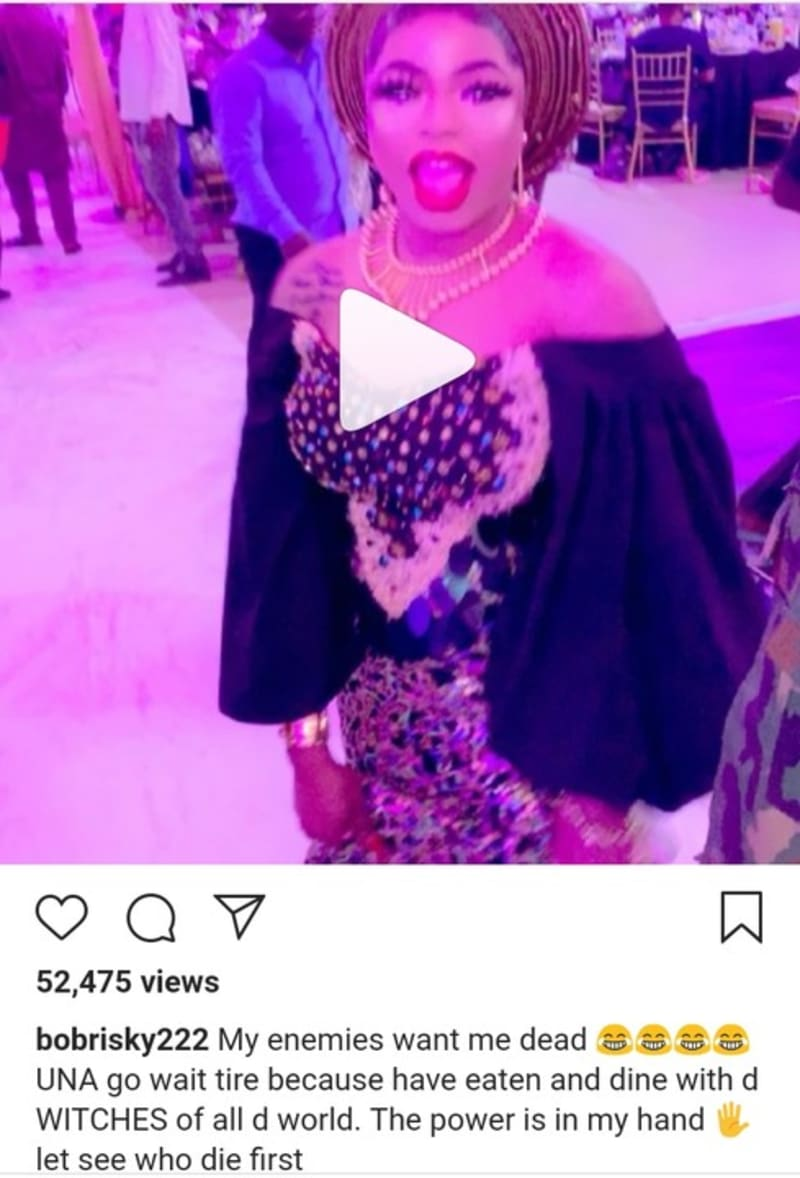 Bobrisky Reacts To His Death Rumour