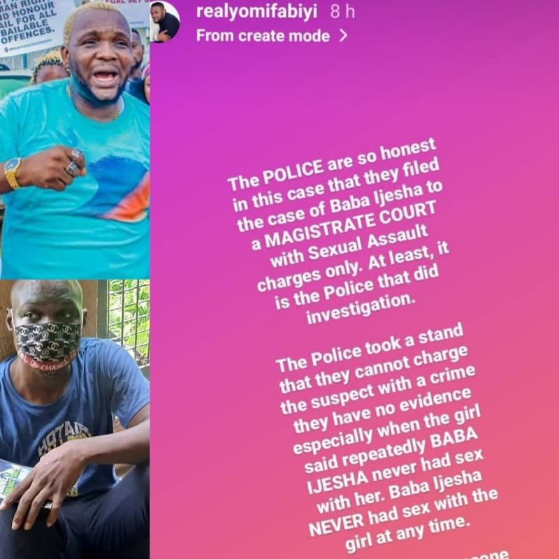 'Baba Ijesha Never Had Sex With The Girl At Any Time' - Actor Yomi Fabiyi