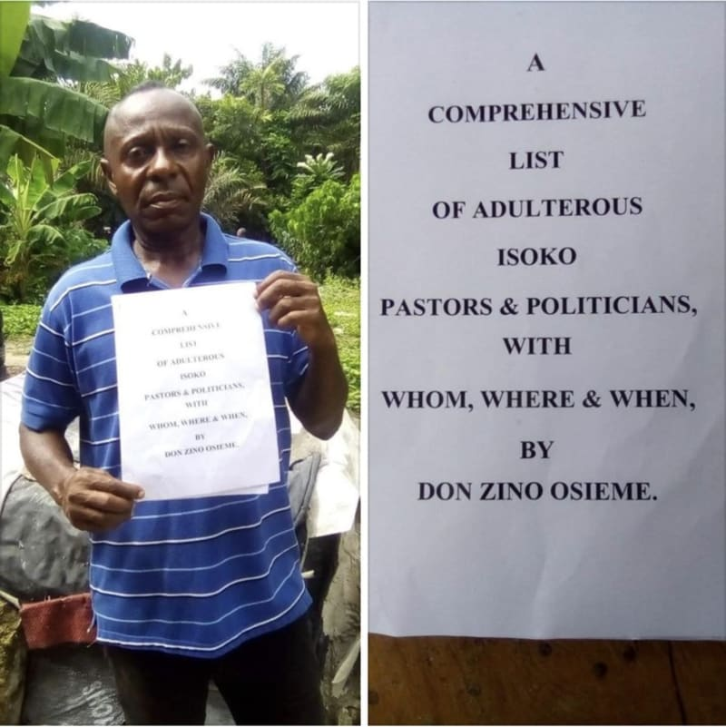 Church Bishop Makes A List Of Adulterous Pastors & Politicians In Delta