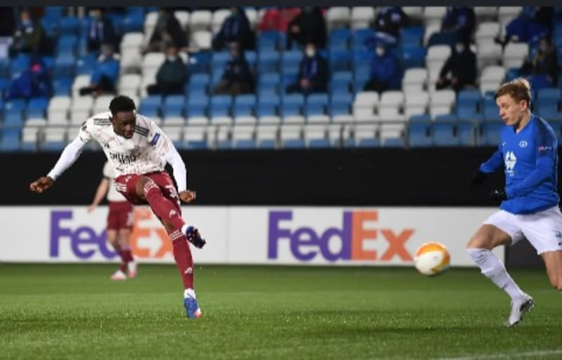 Folarin Balogun Scores His 1st Arsenal Goal 37 Secs After Coming As A Substitute