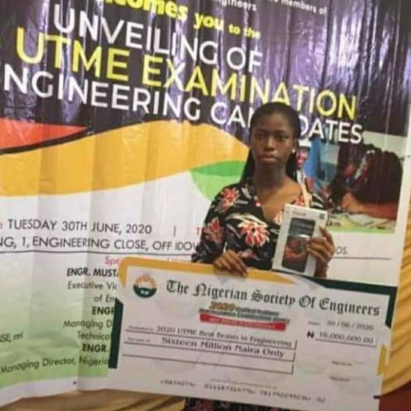 Nigerian Society Of Engineers Rewards 2020 Best JAMB Candidates With ₦16M