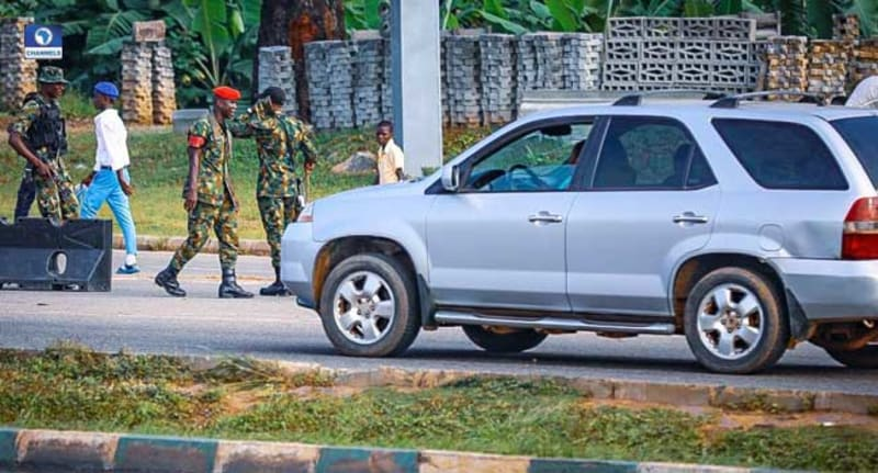 Soldiers Take Over Streets Of Abuja