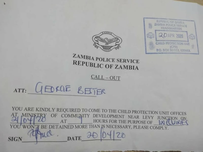 Police Summon The Angry Zambian Father  Who Beat His Son Over Poor Result