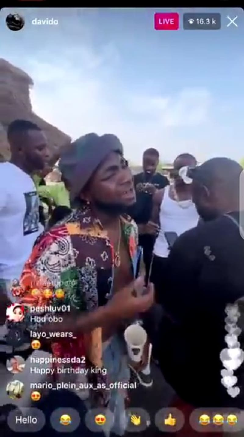 Davido & His Friends At The Beach Celebrating His 28th Birthday