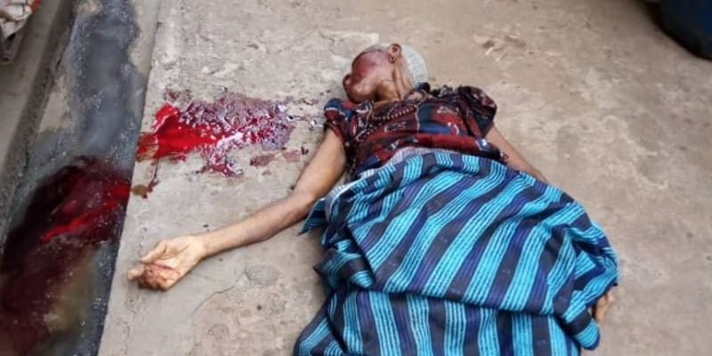 85-Year-Old Woman Jumps To Death From Third Floor In Anambra (Disturbing Photo)