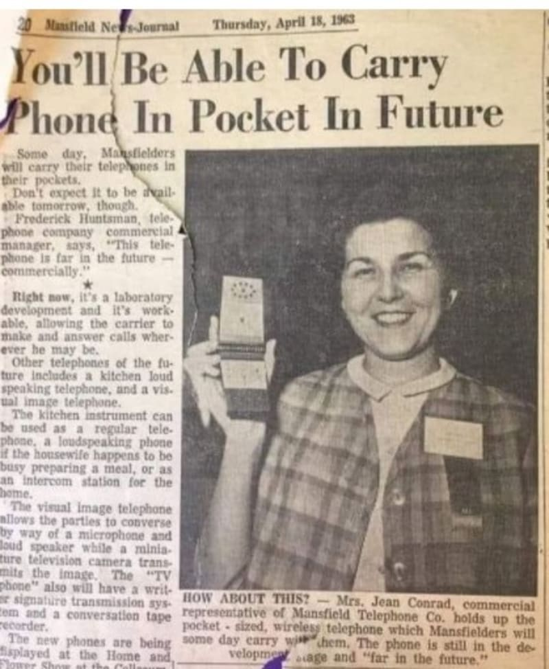 This 1963 Newspaper Predicted What The Phone Of The Future Would Look Like