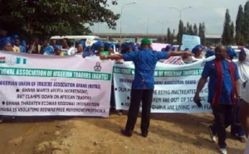 Nigerian Traders In Ghana Turn Beggars Over Locked Up Shops – NUTAG