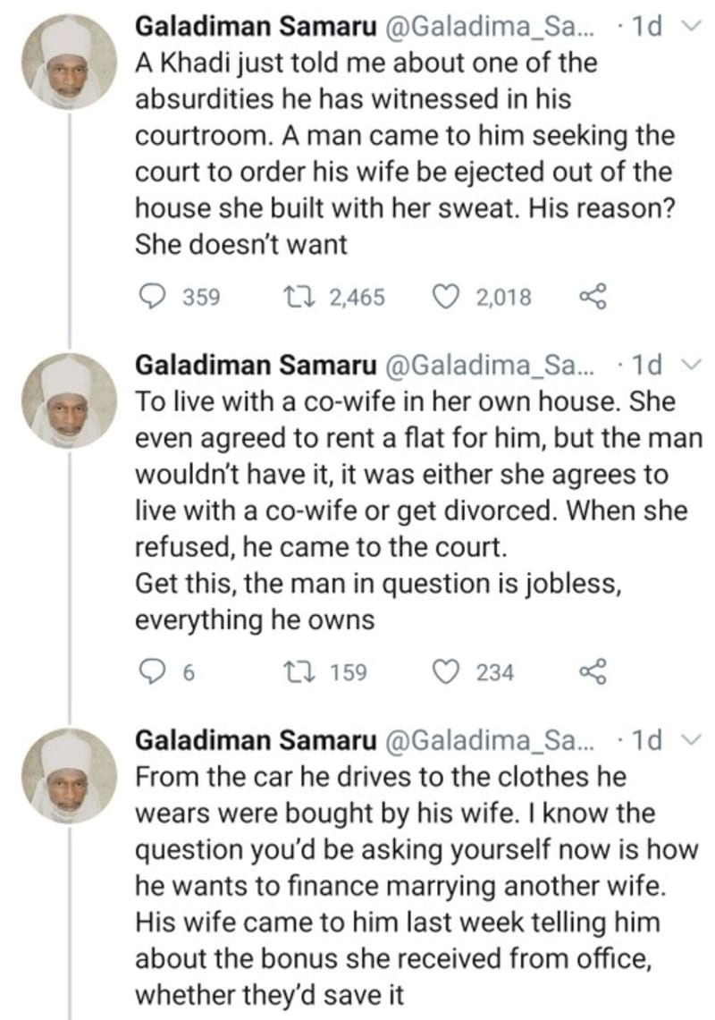 Man Eject His Wife From Her Own House For Rejecting To Live With Co-Wife