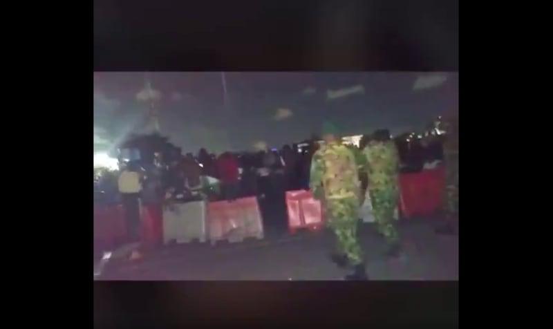 """Footage Of """"Soldiers Shooting At EndSARS Protesters"""" In Lekki"""