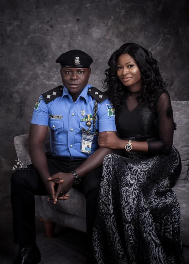 Beautiful Pre-Wedding Photos Of A Police Officer And An Immigration Officer